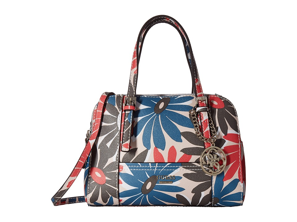 GUESS - Huntley Small Cali Satchel (Floral Multi) Satchel Handbags