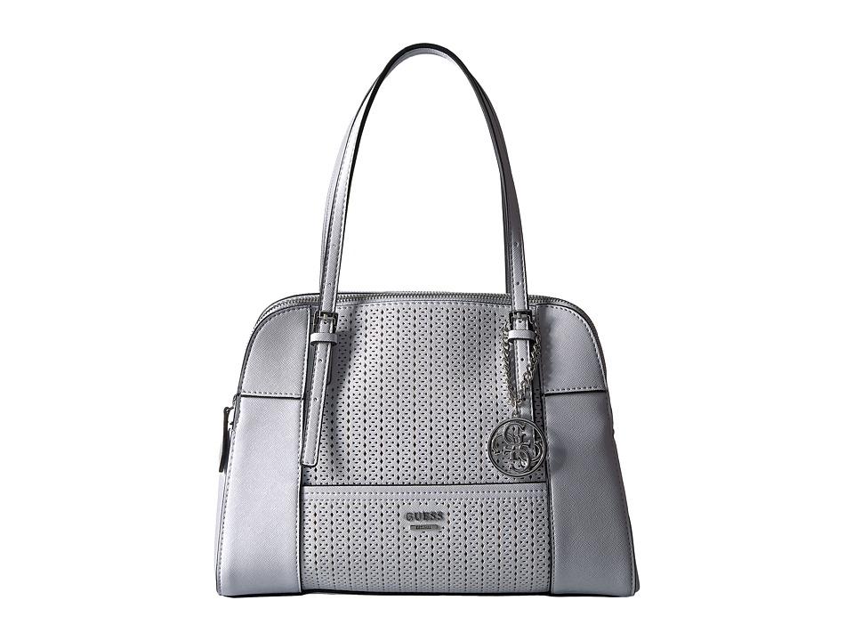 GUESS - Huntley Cali Satchel (White) Satchel Handbags