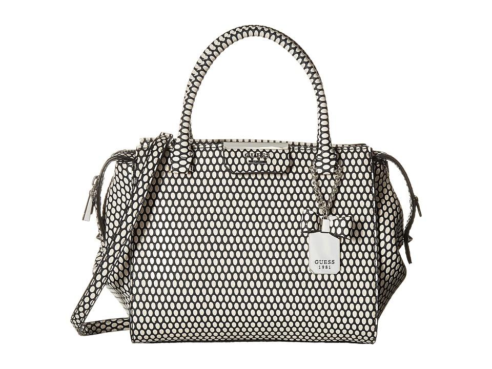 GUESS - Ryann Satchel (Black Multi) Satchel Handbags