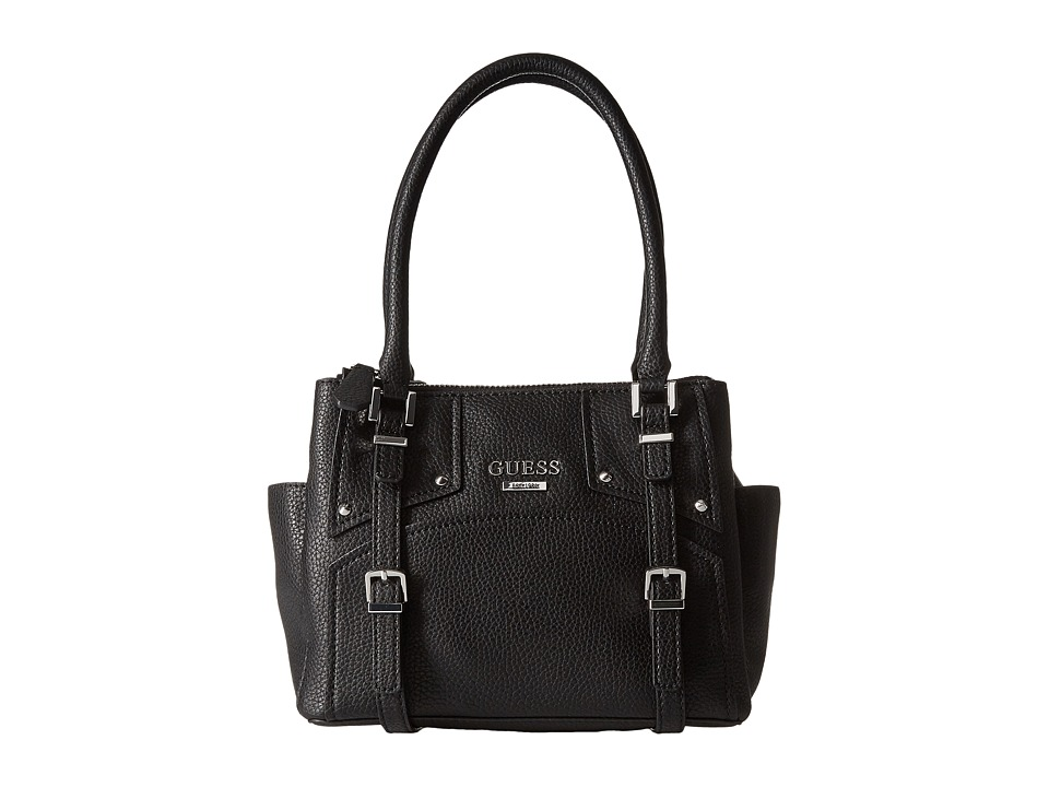 GUESS - Rikki Small Status Satchel (Black) Satchel Handbags