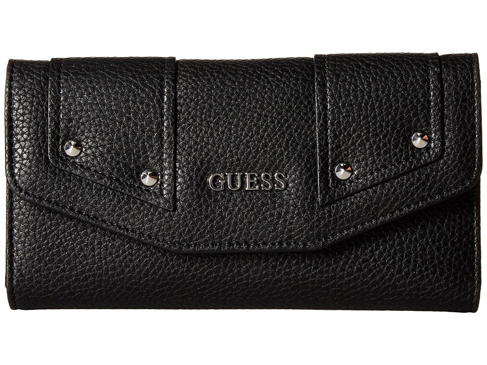 GUESS Rikki SLG Multi Clutch (Black) Clutch Handbags