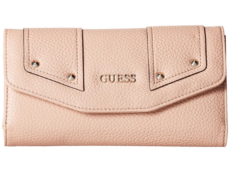 GUESS Rikki SLG Multi Clutch (Blush) Clutch Handbags