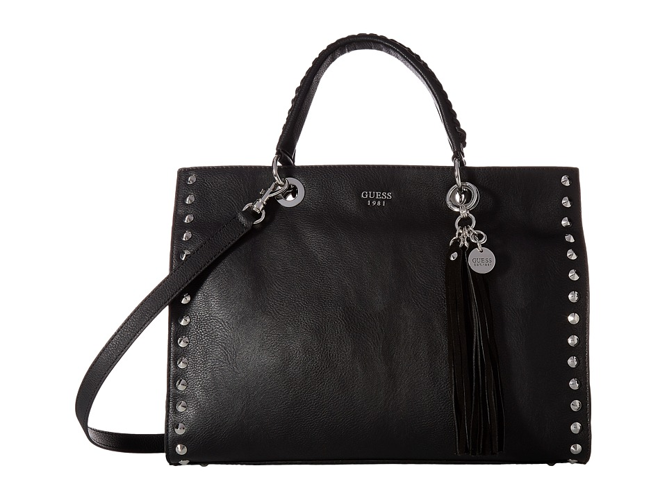 GUESS - Fynn Carryall (Black) Handbags