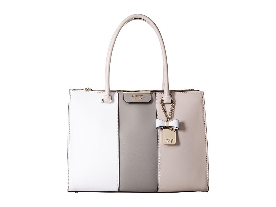 GUESS - Ryann Society Carryall (Cloud Multi) Handbags