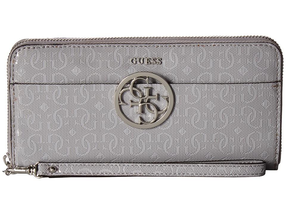 GUESS - Kamryn SLG Large Zip Around (Dove Grey (Prior Season)) Handbags