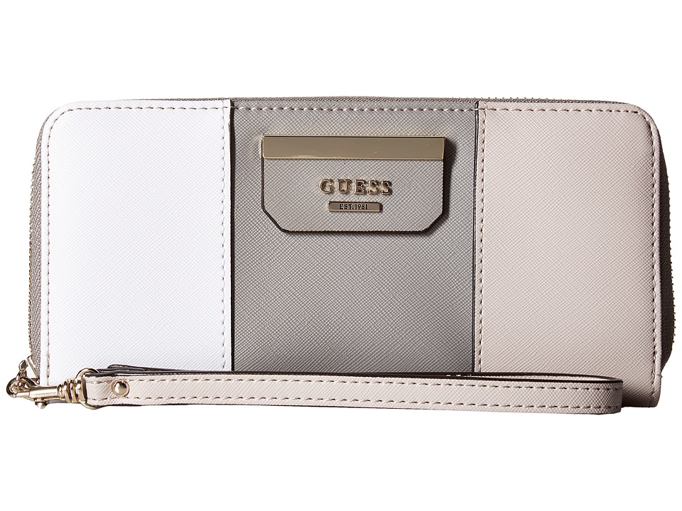 GUESS - Ryann SLG Large Zip Around (Cloud Multi) Handbags