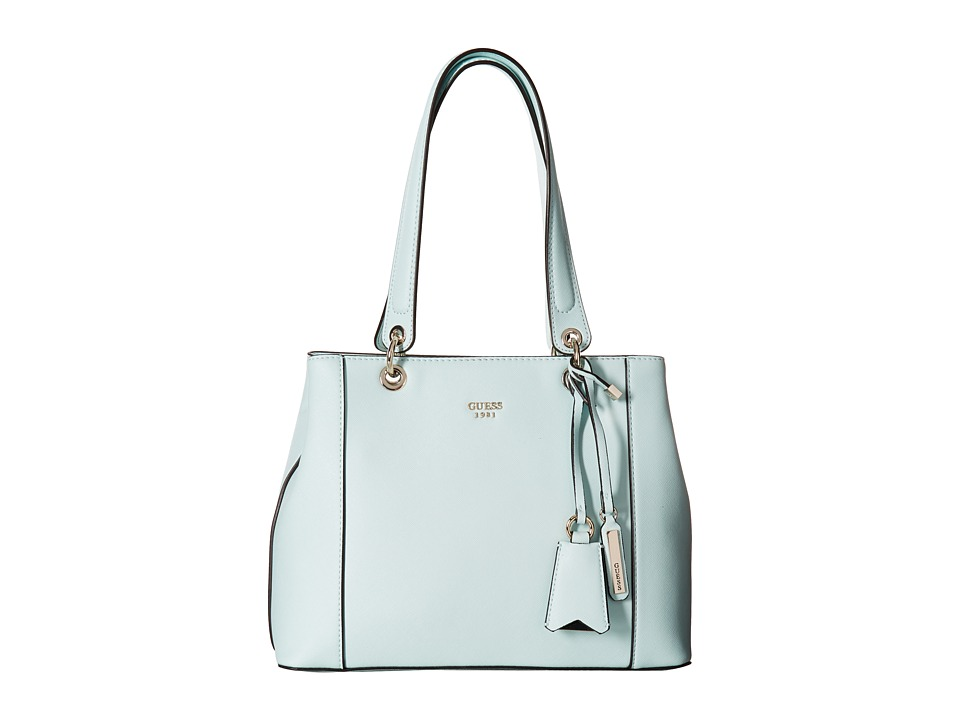 GUESS - Kamryn Shopper (Aqua) Handbags