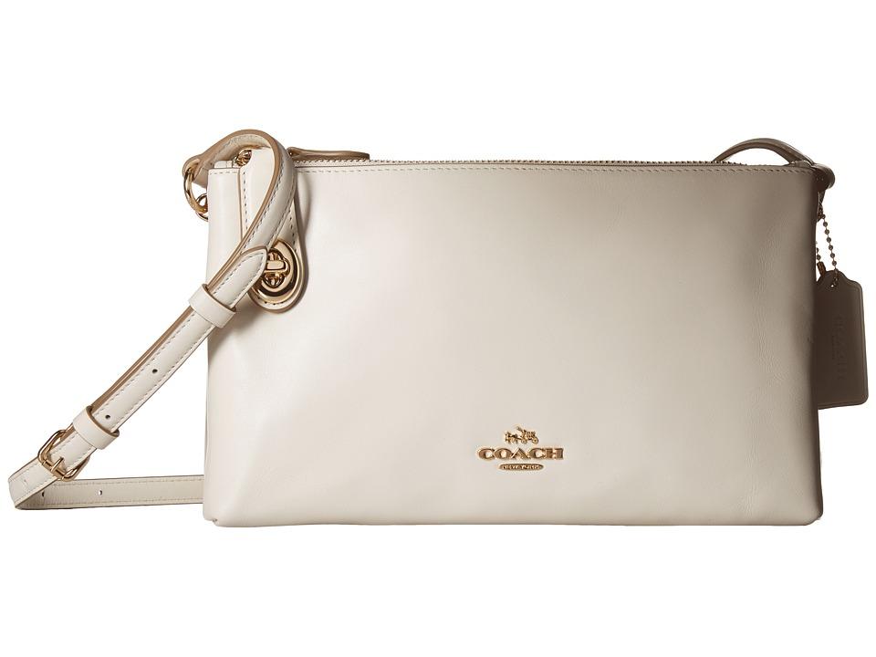 COACH - Smooth Calf Leather Crosby Crossbody (LI/Chalk) Cross Body Handbags