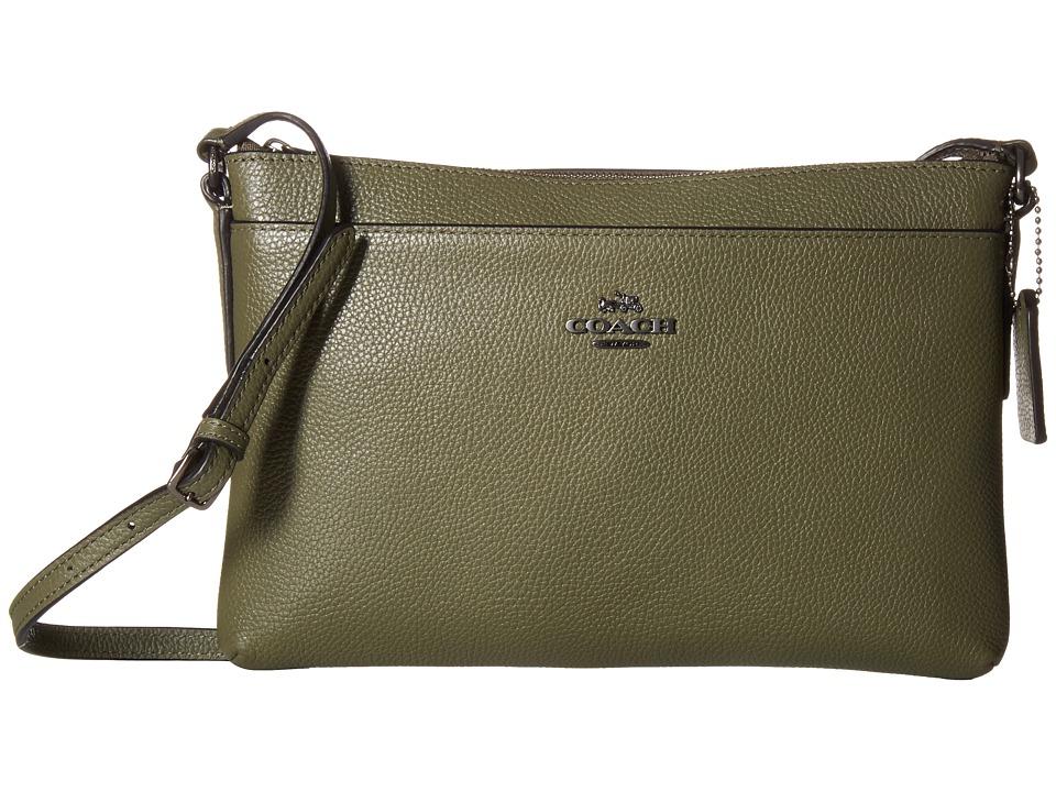 COACH - Polished Pebble Journal Crossbody (QB/Surplus) Cross Body Handbags