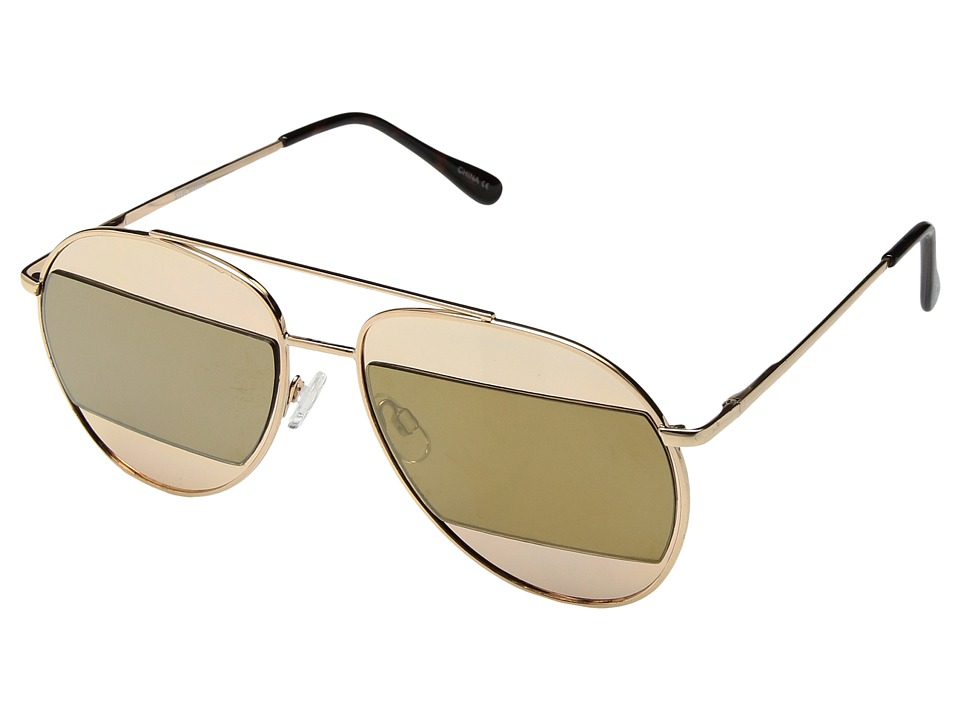 Steve Madden - SM482110 (Gold/Brown) Fashion Sunglasses