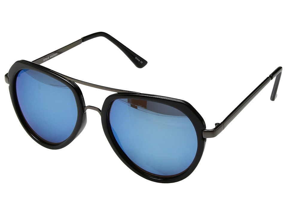 Steve Madden - SMM87273 (Black/Blue) Fashion Sunglasses