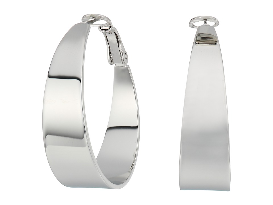 Vince Camuto - Tapered Hoop Earrings (Silver) Earring