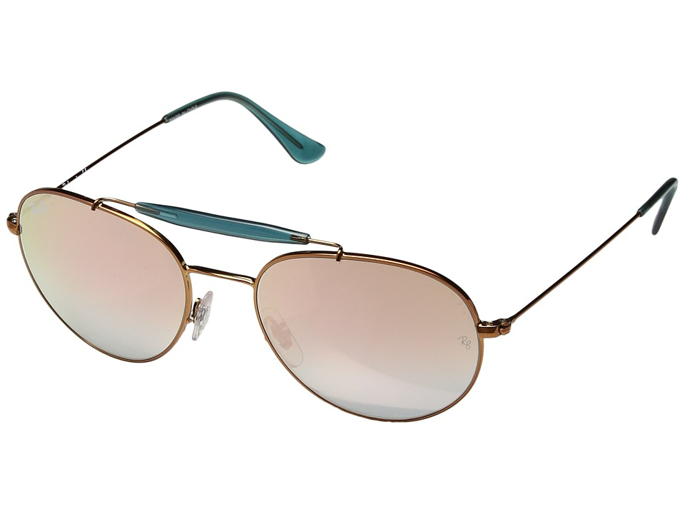 Ray-Ban - 0RB3540 (Blue/Gold) Fashion Sunglasses