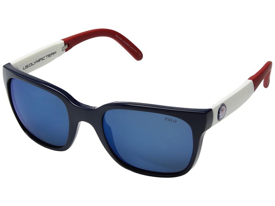 Polo Ralph Lauren - 0PH4111 (Blue/Black/Red) Fashion Sunglasses