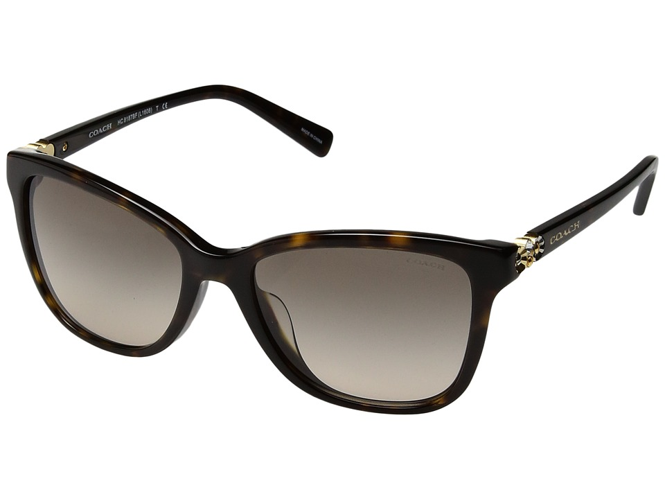 COACH - 0HC8187BF (Tortoise) Fashion Sunglasses