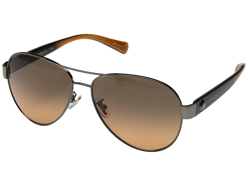 COACH - 0HC7063 (Brown) Fashion Sunglasses