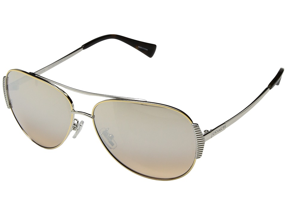 COACH - 0HC7067 (Silver) Fashion Sunglasses