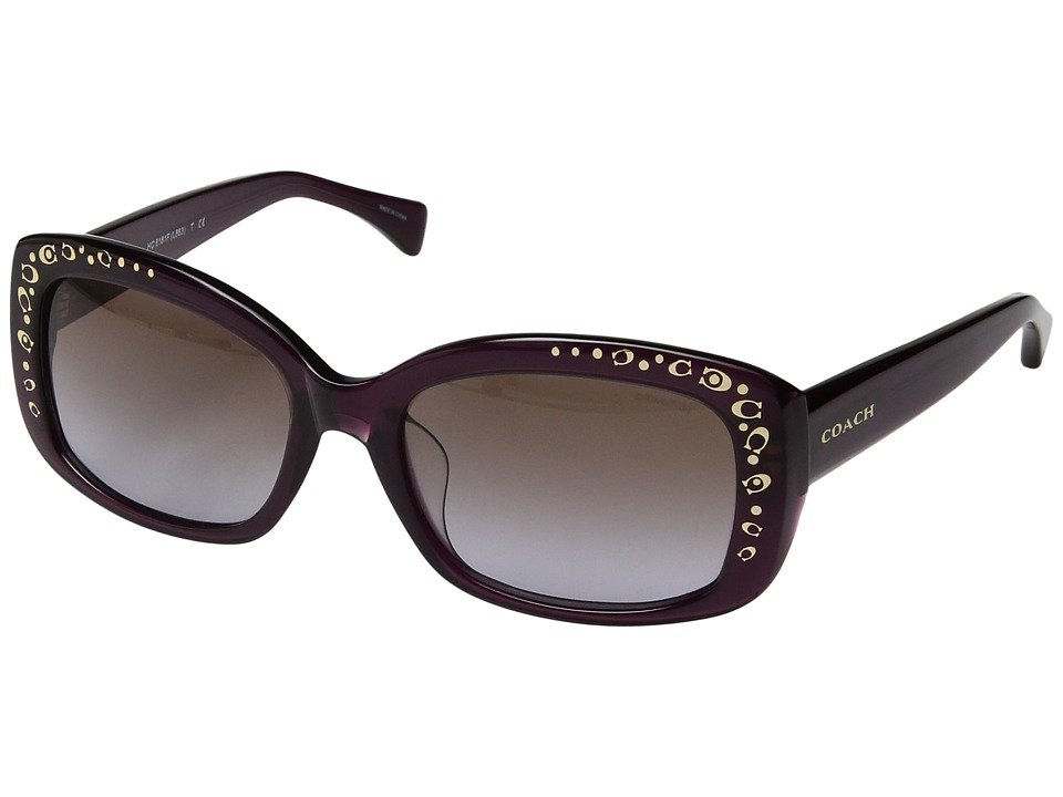COACH - 0HC8161F (Purple) Fashion Sunglasses