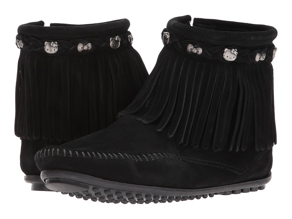 Minnetonka Hello Kitty Fringe Boot (Black) Women