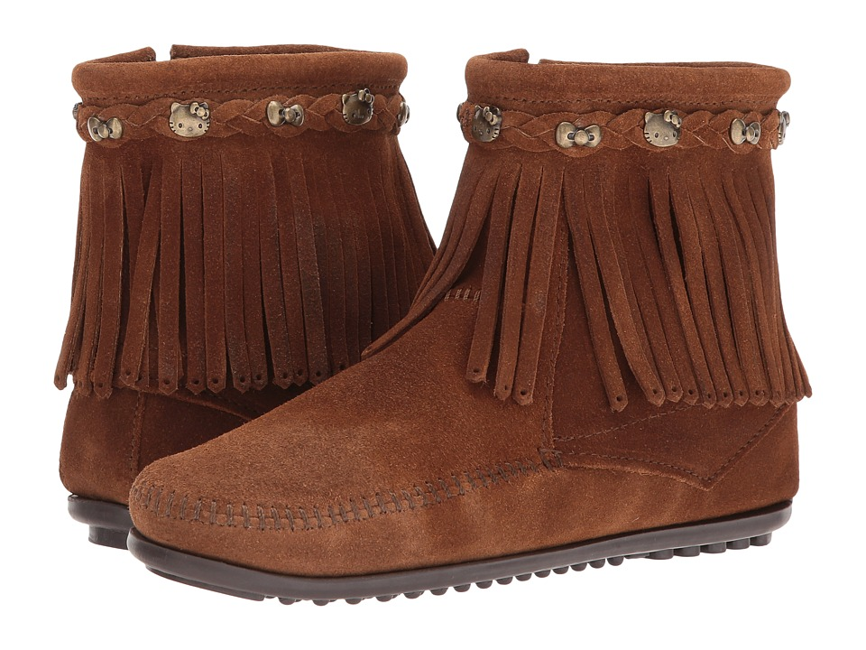 Minnetonka - Hello Kitty Fringe Boot (Dusty Brown) Women's Boots