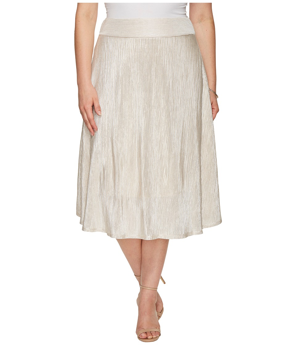Kiyonna Kiss Me At Midnight Skirt (Moonbeam) Women