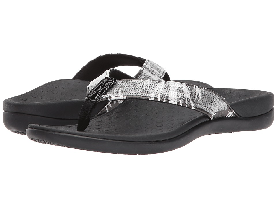 VIONIC - Tide Sequins (White/Black) Women's Sandals