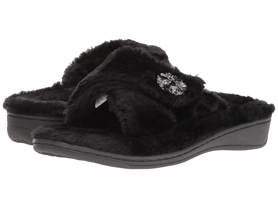VIONIC - Relax Luxe Slipper (Black) Women's Shoes
