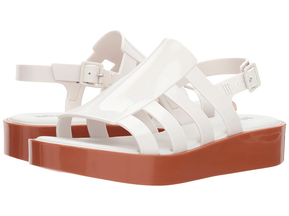 Melissa Shoes - Boemia Platform (Brown/White) Women's Shoes