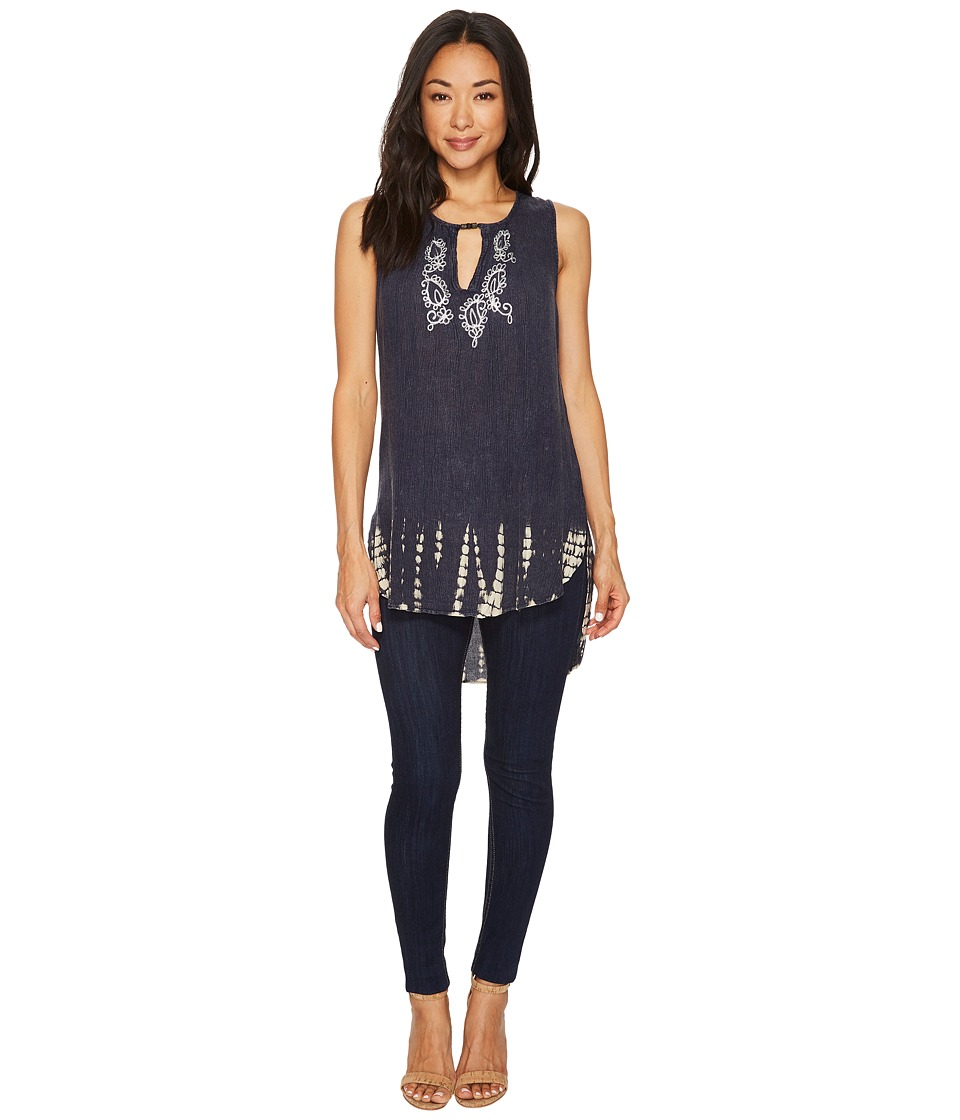 Scully Nonie High-Low Tank Top (Blue) Women