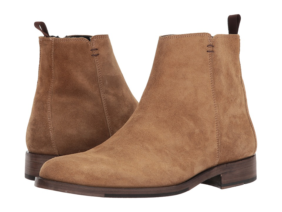 Steve Madden Fred GQ + Steve Madden Brown Suede Mens Pull-on Boots