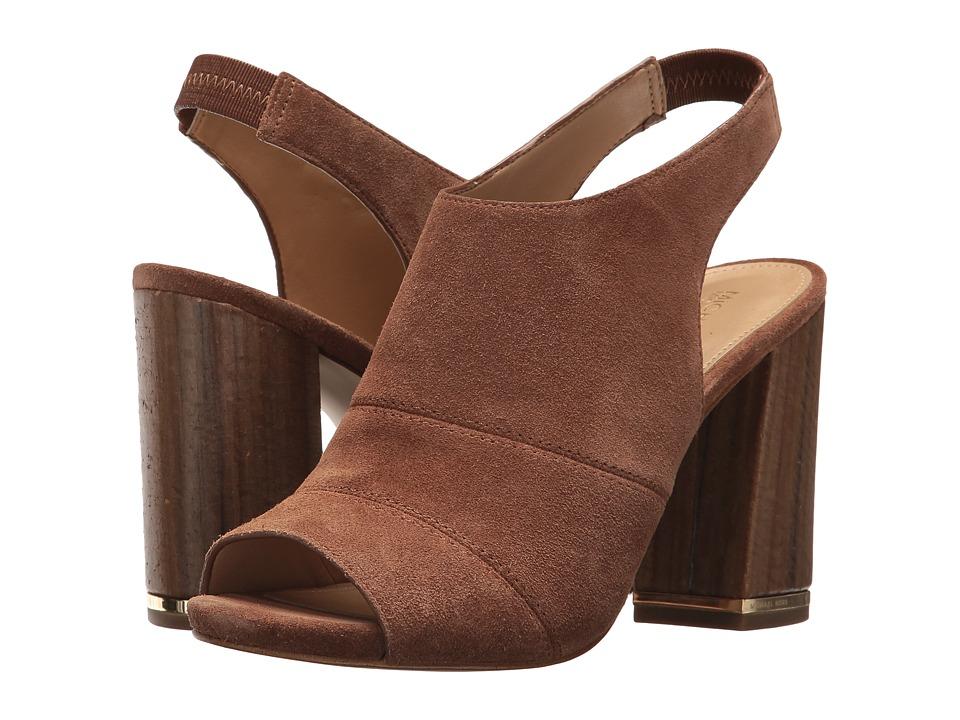 MICHAEL Michael Kors - Anise Open Toe (Dark Caramel) Women's Sling Back Shoes