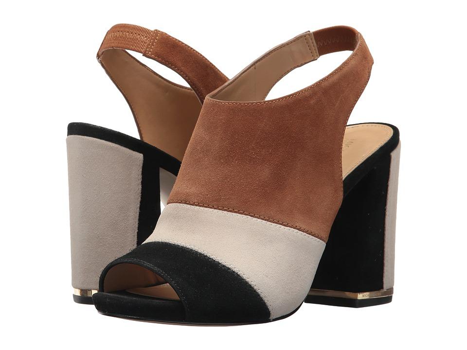 MICHAEL Michael Kors - Anise Open Toe (Black/Acorn) Women's Sling Back Shoes