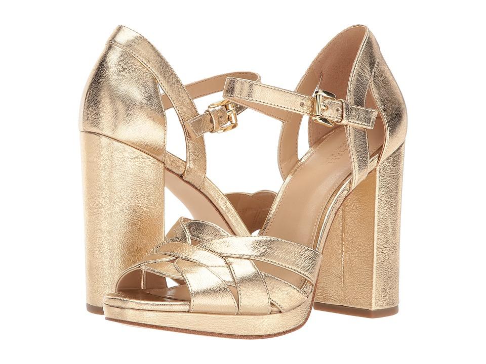 MICHAEL Michael Kors - Annaliese Platform (Pale Gold) High Heels