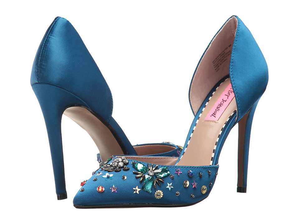 Betsey Johnson Mayson (Navy Satin) High Heels