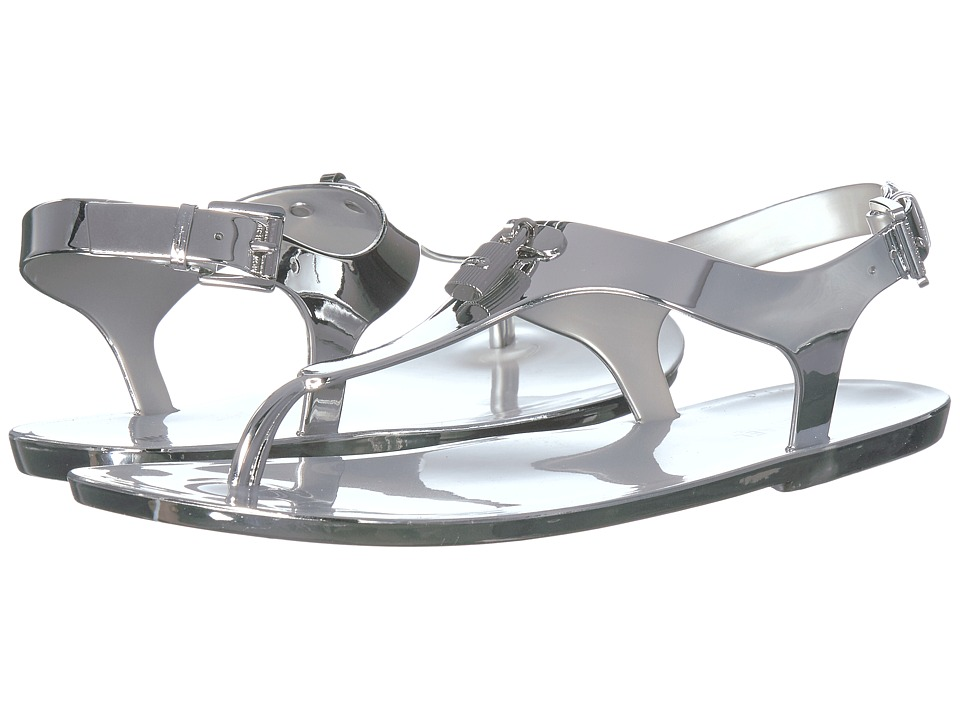 MICHAEL Michael Kors - Mira Jelly Thong (Light Silver) Women's Sandals