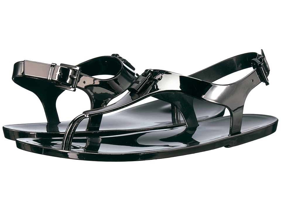 MICHAEL Michael Kors - Mira Jelly Thong (Light Gunmetal) Women's Sandals