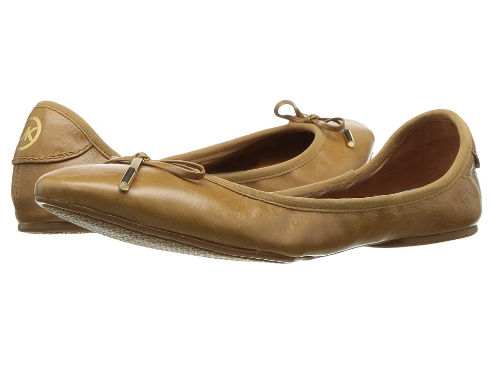 MICHAEL Michael Kors - MK City Ballet (Light Acorn) Women's Flat Shoes