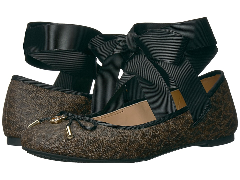 MICHAEL Michael Kors - Myles Ballet (Brown) Women's Flat Shoes