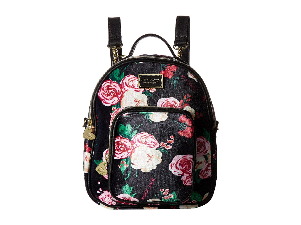 Betsey Johnson - Mini Convertible Backpack (Floral) Backpack Bags