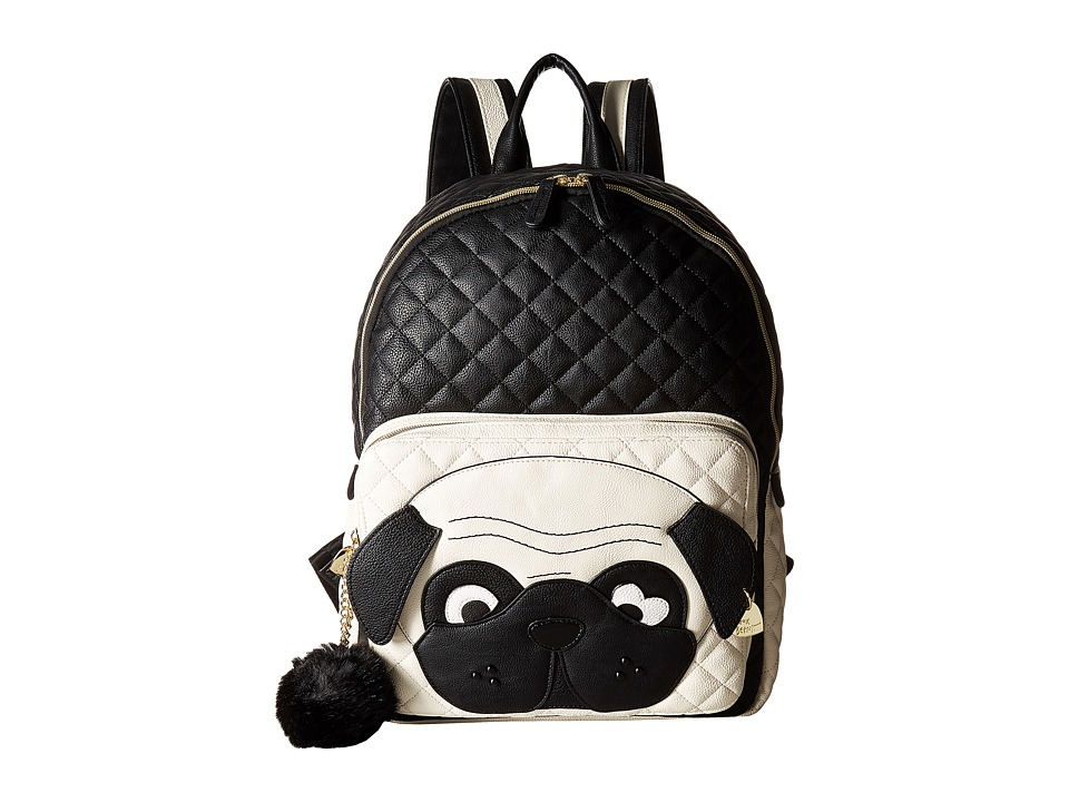 Betsey Johnson - Backpack (Black/Cream) Backpack Bags