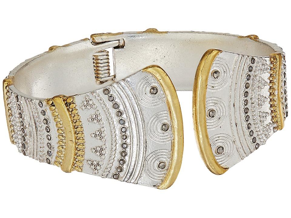 Lucky Brand - Pave Hinge Bracelet (Two-Tone) Bracelet