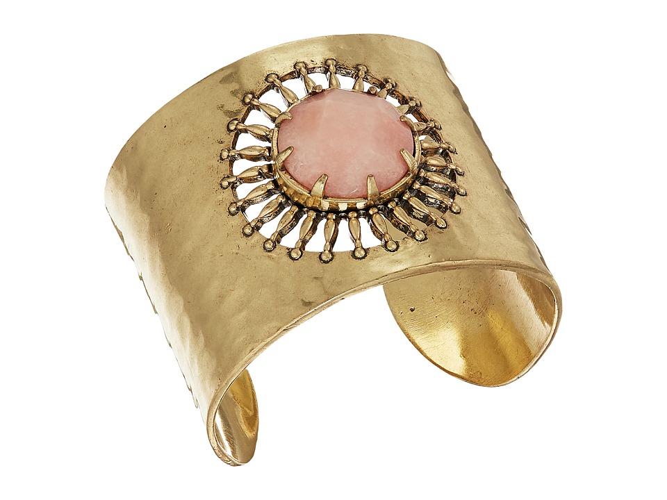 Lucky Brand - Sunburst Statement Cuff Bracelet (Gold) Bracelet