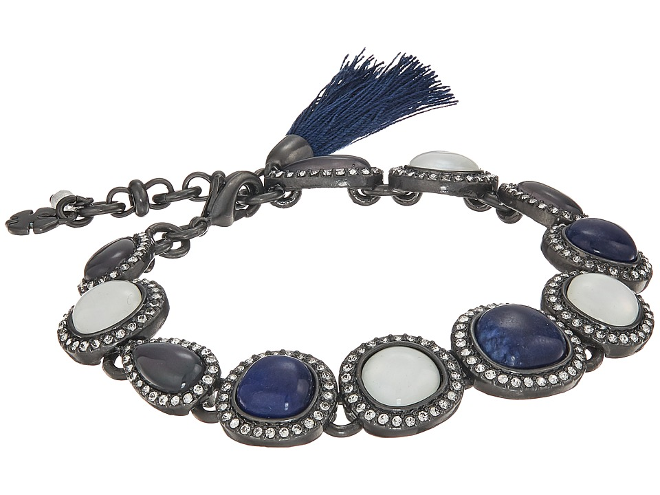 Lucky Brand - Deep Blue Link Bracelet (Silver) Bracelet