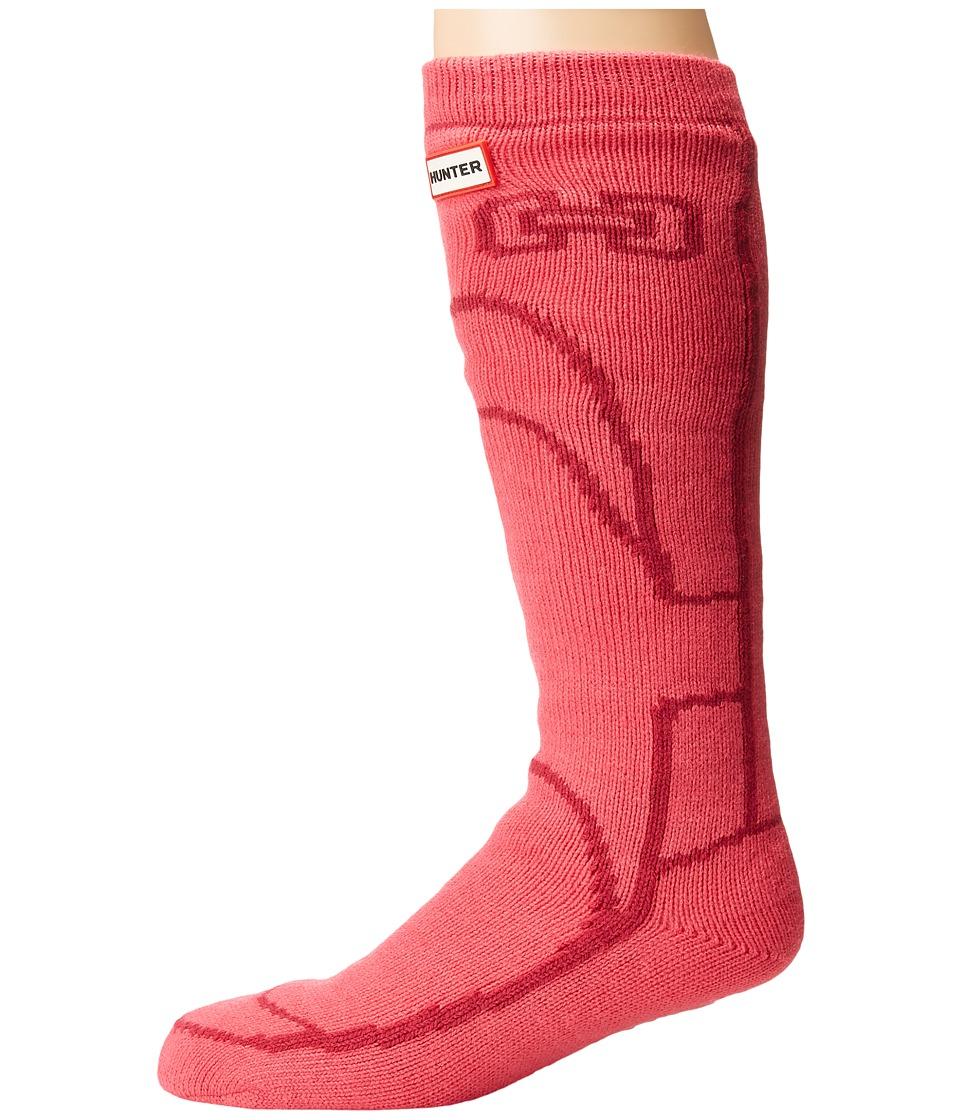 Hunter Original Boot Slipper Socks (Bright Pink) Crew Cut Socks Shoes