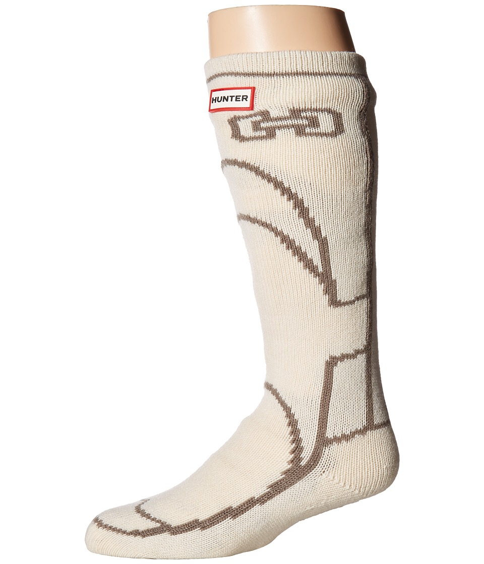 Hunter Original Boot Slipper Socks (Cream) Crew Cut Socks Shoes
