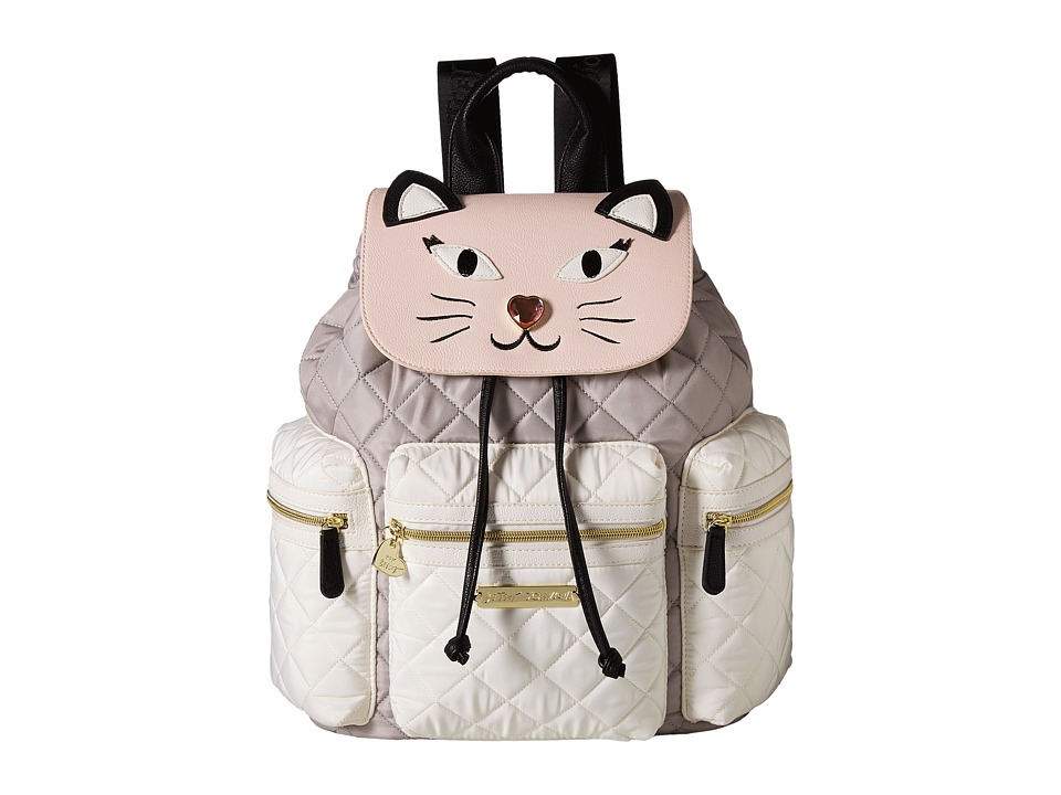 Betsey Johnson - Drawstring Backpack (Grey Multi) Backpack Bags
