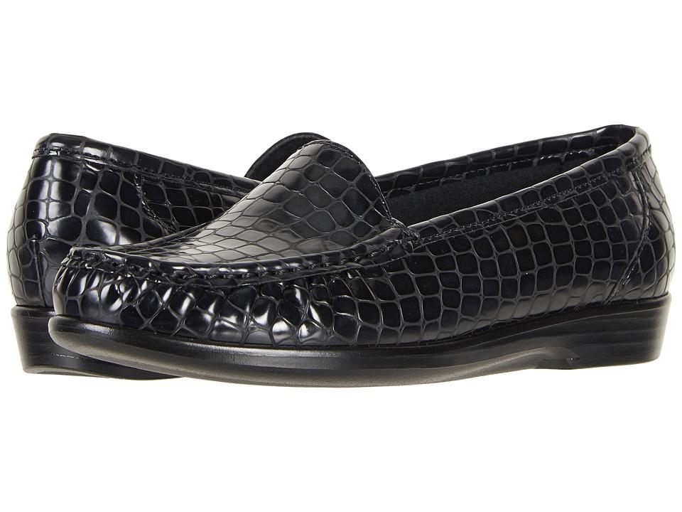 SAS Simplify (Matte Black Croc) Women's Shoes
