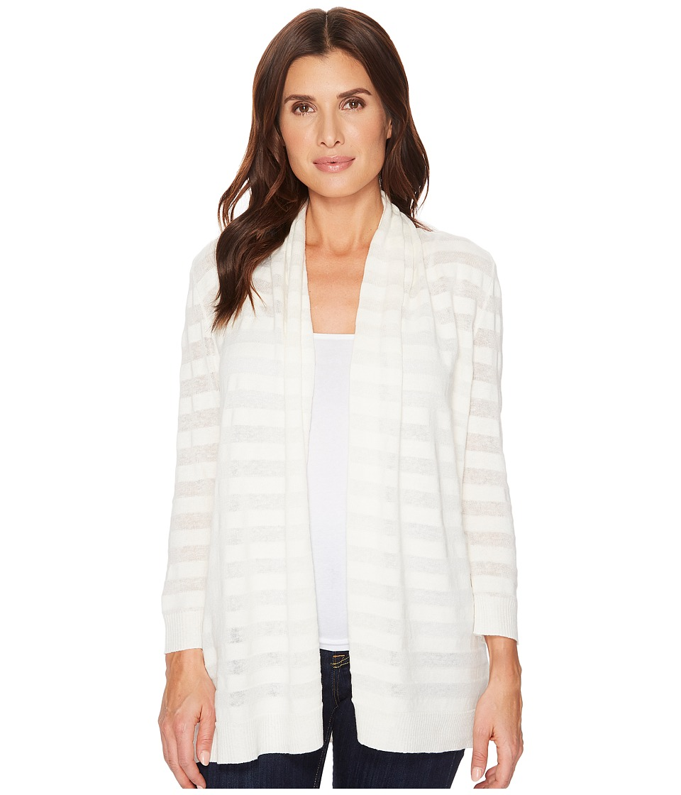 Lilla P 3/4 Sleeve Open Cardigan (Salt) Women