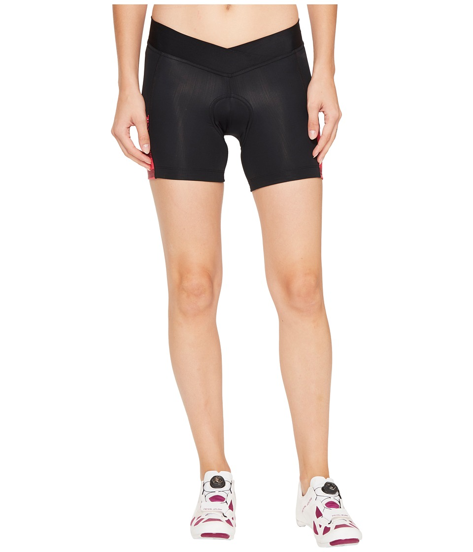 Pearl Izumi - Select Escape Print Shorts (Black/Rouge Red Strip) Women's Shorts