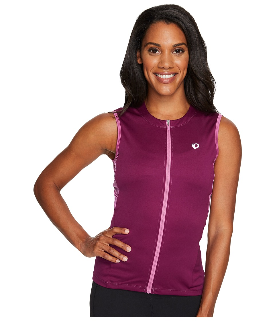 Pearl Izumi - Select Short Sleeveless Printed Jersey (Dark Purple) Women's Clothing